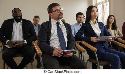 multiraced, business, notes, auditeurs, confection, séminaire