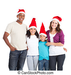 multiracial, boże narodzenie, rodzina