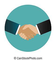 Multiracial business people shake hand