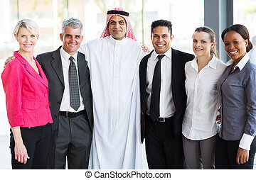 multiracial business team