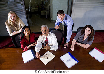 multiracial, equipe affaires