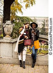Multiracial friendship