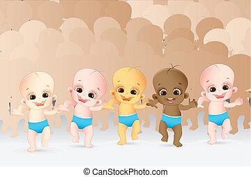 multiracial, gosses
