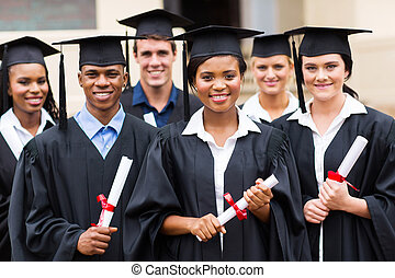 multiracial graduates - portrait of multiracial graduates...
