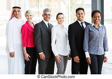 multiracial, handlowe biuro, drużyna