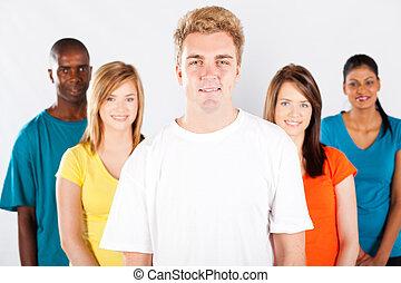 multiracial, ludzie, grupa