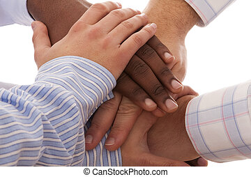 multiracial, mãos