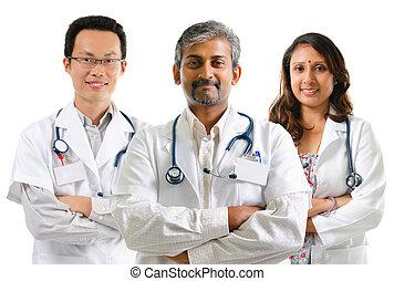 multiracial, médecins