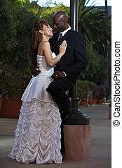 multiracial, małżeństwo, pociągający
