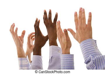 multiracial, mains