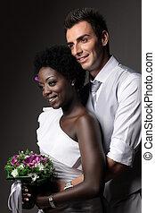 multiracial párosít, esküvő