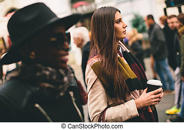 Multiracial young women