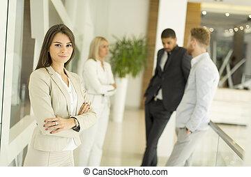 multiratial, 現代, businesspeople, オフィス