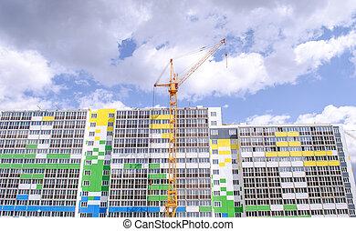 Multistorey building and construction cranes