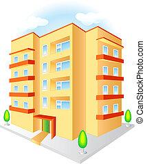 multistoried, 建物