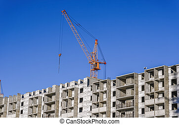 Multistory building and industrial construction cranes