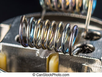 Multistrand Ribbon Fused Clapton on a dripper gold
