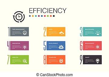 multitáreas, simple, línea, 10, opción, velocidad, trabajo...