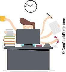 multitâche, travail