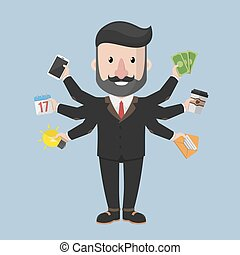 Multitask business man