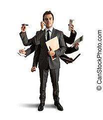 multitasking, biznesmen
