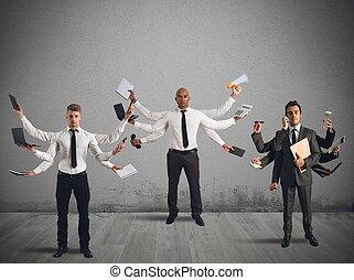 Multitasking businessperson - Businessperson that to solve ...