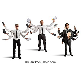 multitasking, businessperson