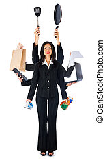 Multitasking Is Okay For Me - Business woman handling...
