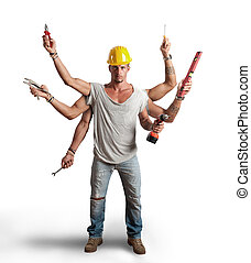 Multitasking worker conept - Concept of a multitasking ...