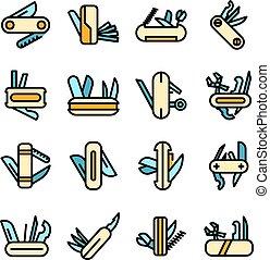 Multitool icons set vector flat
