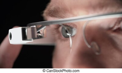 Multitouch - Truck left and right along male eyes in google...