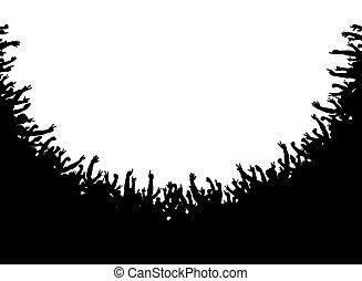 multitud, anfiteatro