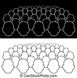 multitud, gente