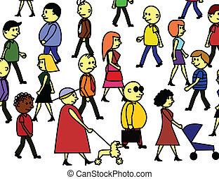 multitud, pueblos