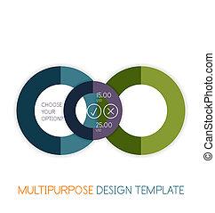 multiuso, forma, papel, diseño, plantilla, geométrico