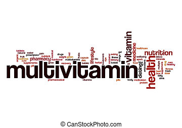 Multivitamin word cloud concept - Multivitamin word cloud