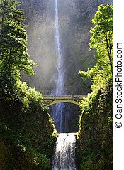 multnomah, 滝, 北西, オレゴン