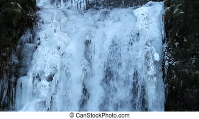 Multnomah Falls Frozen in Winter