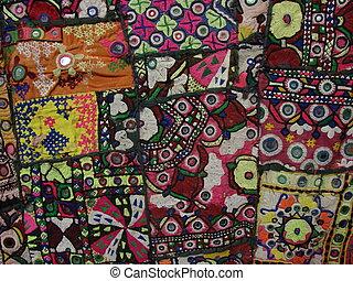 multycolourfull idian fabric