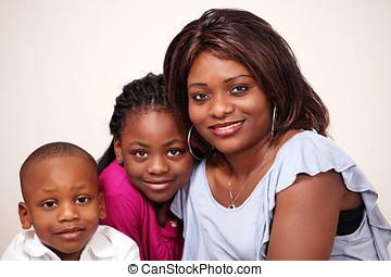 Mum and loving kids