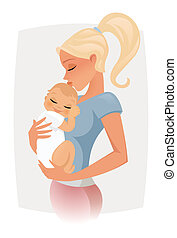 Mum holding her baby - mum holding her baby
