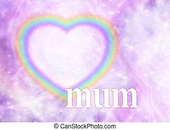 Mum Rainbow Heart Frame