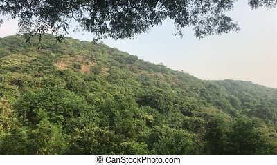 Mumbai, India - View of mountains with forests