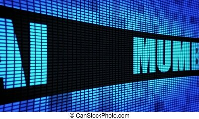 MUMBAI side Text Scrolling LED Wall Pannel Display Sign...