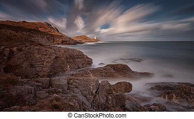Mumbles lighthouse and Bracelet Bay