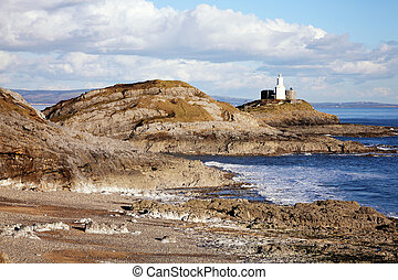 West Glamorgan Wales UK a popular Welsh coastline travel destination landmark attraction for tourist visitors to the city of Swansea