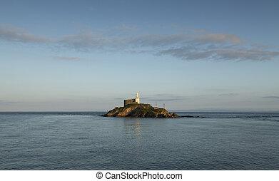 Mumbles Lighthouse island
