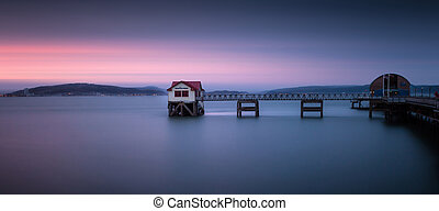 Mumbles pier and lifeboat station in Swansea