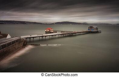 Mumbles Pier in Swansea Bay