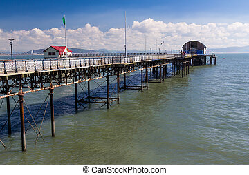The 1898 Mumbles Pier Gower Wales UK Europe